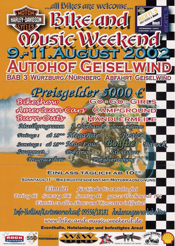 Bike and Music Weekend 2002 Geiselwind