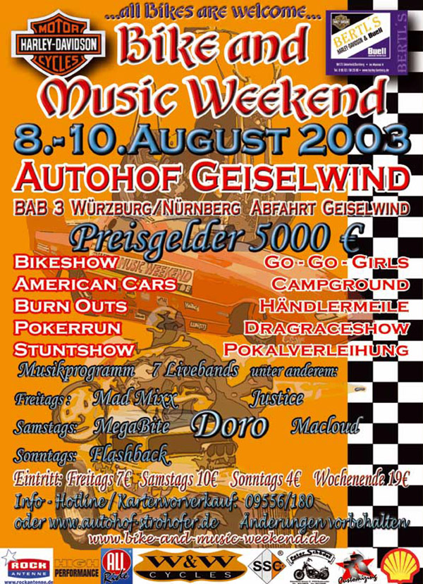 Bike and Music Weekend 2003 Geiselwind