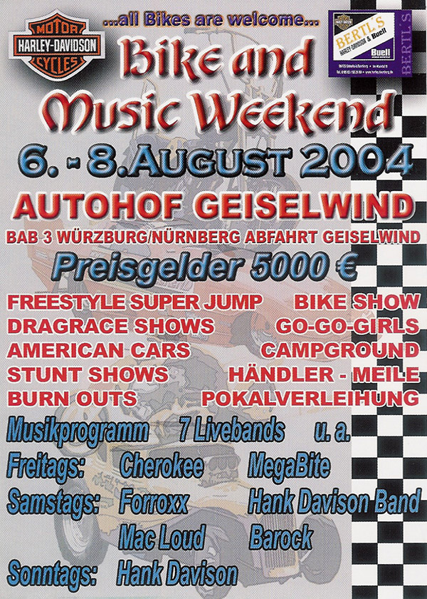 Bike and Music Weekend 2004 Geiselwind