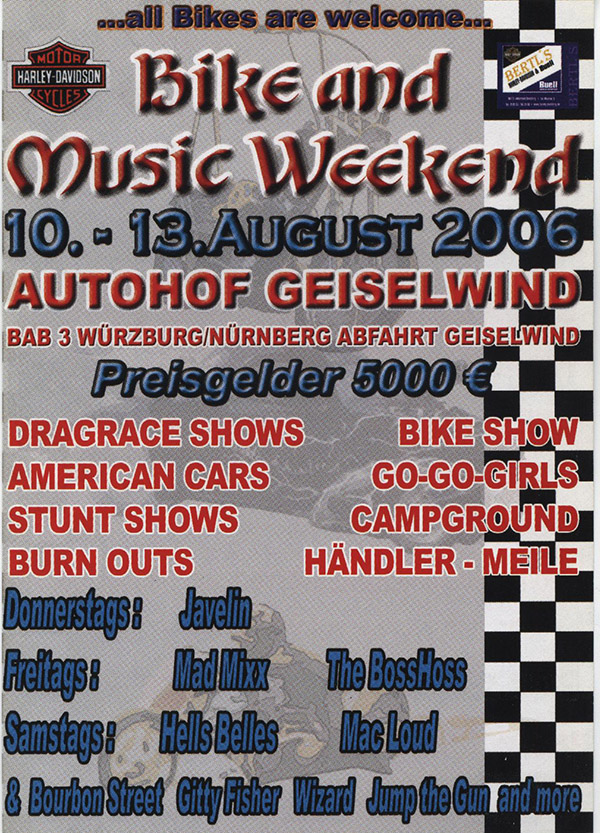 Bike and Music Weekend 2006 Geiselwind
