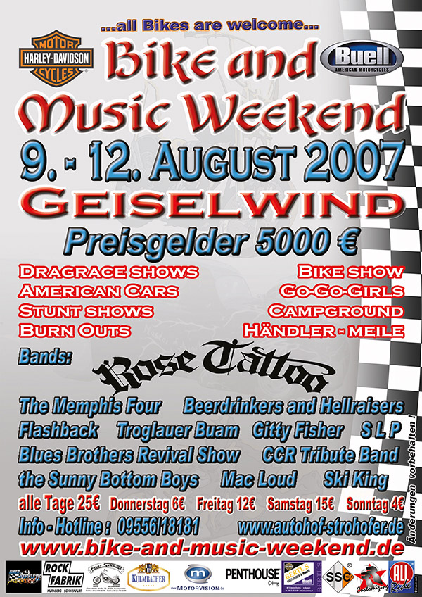 Bike and Music Weekend 2007 Geiselwind